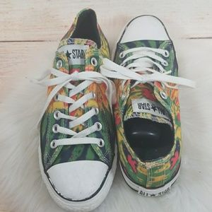 Converse All Star low top tye dye lace up shoes 8